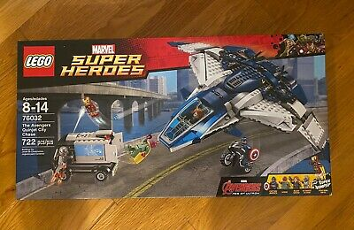 New, Sealed LEGO Marvel Super Heroes The Avengers Quinjet City Chase (76032)