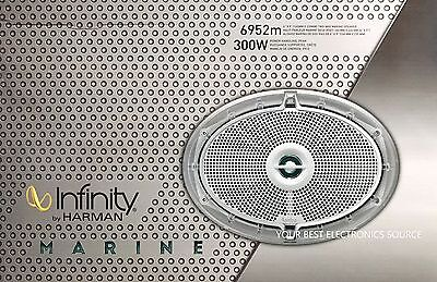 "NEW Infinity 6952M 6""x9"" 2-Way Coaxial Marine Speakers (1 PAIR)"
