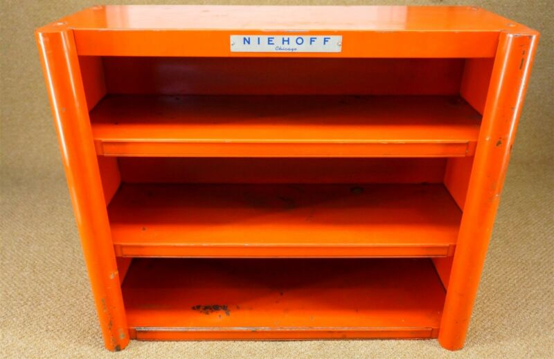 Vintage 40s 50s Niehoff Tune Up Parts Shelf Cabinet Rack OK Gas Service Station