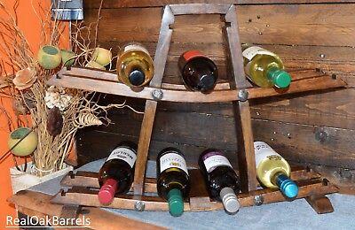 Solid Oak Whiskey Barrel, Rustic, Wine Bottle Rack, Best Christmas (Best Bottle Racks)