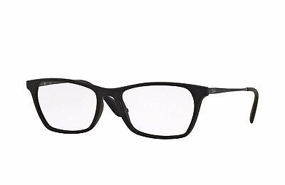 $306 Ray-Ban WOMENS BLACK EYEGLASSES FRAMES GLASSES OPTICAL LENS ITALY RB 7053