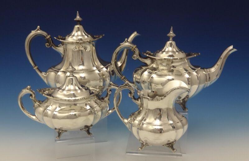 Hampton Court By Reed & Barton Sterling Silver Tea Set 4pc (#0553)