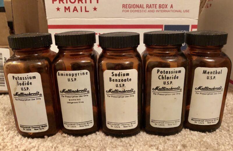 Vintage Mallinckrodt Red Label Poison Bottles $9.99 each