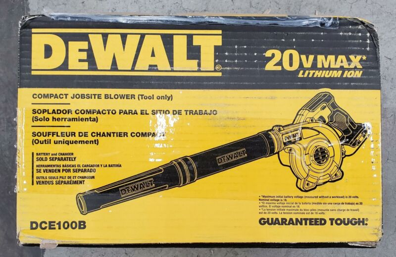 DEWALT DCE100B 20V MAX Blower for Jobsite, Compact, Tool Only