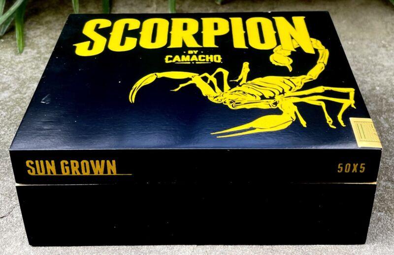 Camacho Scorpion Empty Cigar Box, Black
