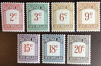 Seychelles 1951 Postage Due Set To 20c MNH