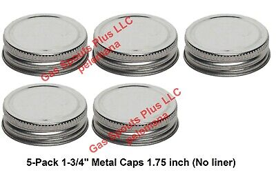 5-pack 1-34 Steel Caps Gallon Oil Can Gas Eagle Ironsides 1.75 Inch Metal Lids