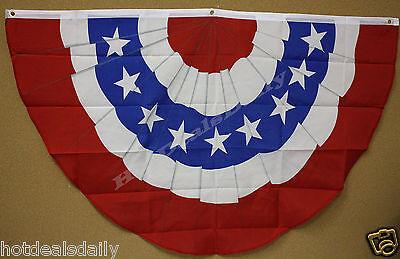 U.S.A. BUNTING STARS & STRIPES FLAG 3'x5' SUPPORT PATRIOTIC USA UNITED -