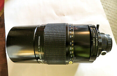 Pentax SMC Reflex 1000mm f11 Mirror Tele Lens - -collector grade