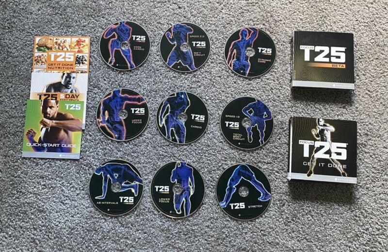 Beachbody Focus T25 Get It Done DVD Set Shaun T Alpha + Beta Workout
