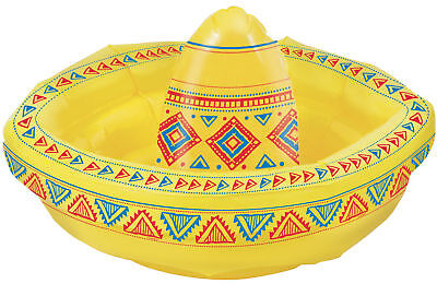 Inflatable Blow up Sombrero Hat Mexican Party Decoration Drinks Cooler 45cm