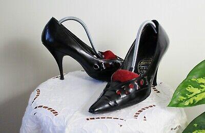 BRUNO MANETTI Vintage 80er 90er LederSatin Pumps Stilettos