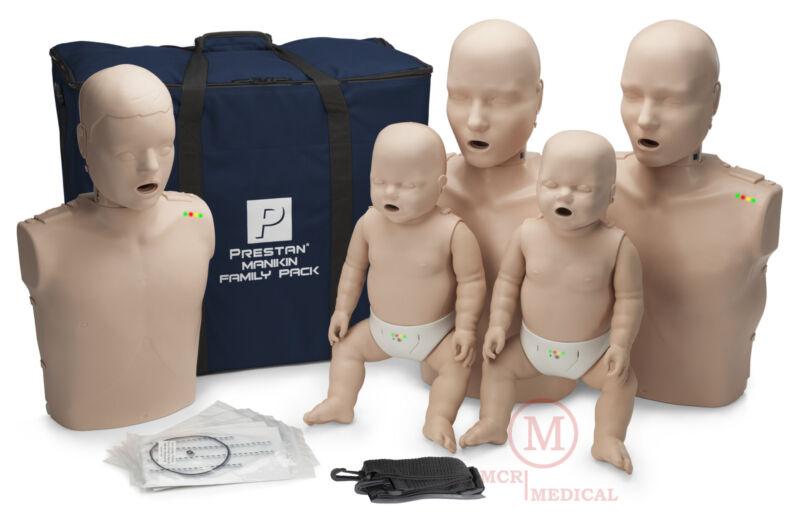 Prestan Family Pack CPR Manikins w Feedback, Med Tone PP-FM-500M-MS Mannequins