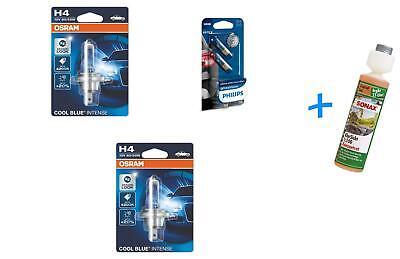 H4 12V 60/55W Cool Blue Intense 2St OSRAM +H6W Side Light + Sonax