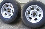 """14 """" x 7 """" HQ HJ HZ WB Performance ALLOY MAGS x 2. box trailer Mardi Wyong Area Preview"""