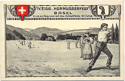 Basel, IV. Eidg. Hornusserfest, 1909