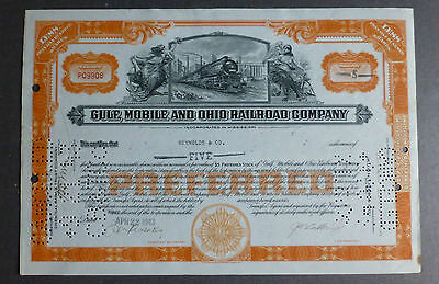 Historische Aktie Gulf, Mobile & Ohio Railroad Company 1943 5 shares Schnäppchen