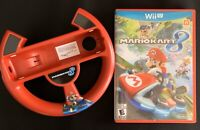 Mario Kart 8 for WiiU w/ Steering Wheel