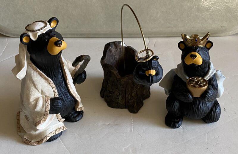 BEARTIVITY Bearfoots 2 Wisemen and 1 Angel Nativity Christmas Jeff Fleming RET