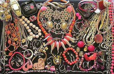 JL - 37  Mixed Vintage - Now Costume Jewelry Lot  71 pc