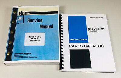 International Farmall 1256 Diesel Tractor Service Manual Parts Catalog Shop Book