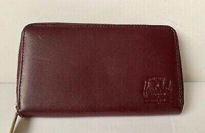 Herschel Supply Co. Thomas Zip Wallet Cranberry Brick Red