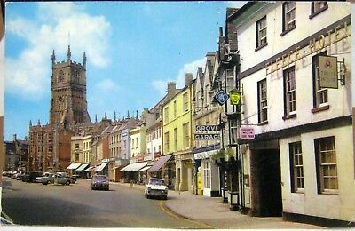 England Church and Market Place Cirencester - unposted