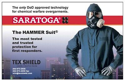 Saratoga Hammer Suit Cbrn Chemical Warfare Protective Overgarment Jacket Size Mr