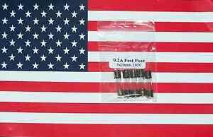 5pcs 0.2A 200mA 250V 5x20mm Glass Fast Fuse, US Seller