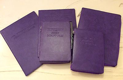 NEW WORLD TRANSLATION BIBLE   COVER 4 PACK PURPLE, Jehovah's Witness