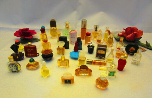 Nice Collection of 41 Vintage Mini Perfume Bottles, Great Variety