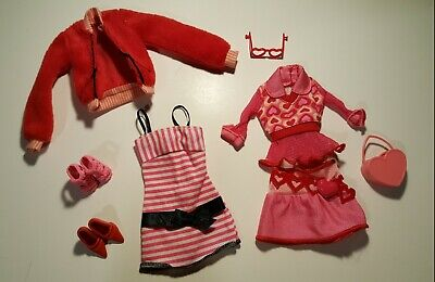 Barbie Doll Clothes And Accessories Lot Valentine's Day Themed. Vtg.