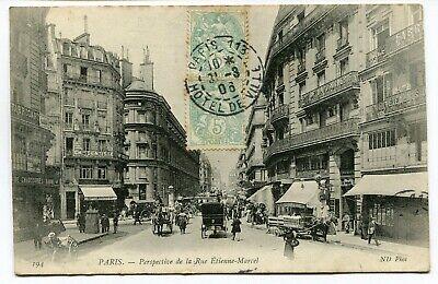 CPA - Carte Postale - France - Paris - Perspective de la Rue Etienne Marcel - 19