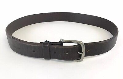 """Vtg Nautica Unisex Brown Leather Classic Casual Belt Size 43"""" Inches Long"""