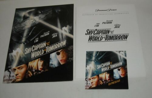 2004 SKY CAPTAIN and the WORLD of TOMORROW PROMO MOVIE PRESS KIT w CD / DVD