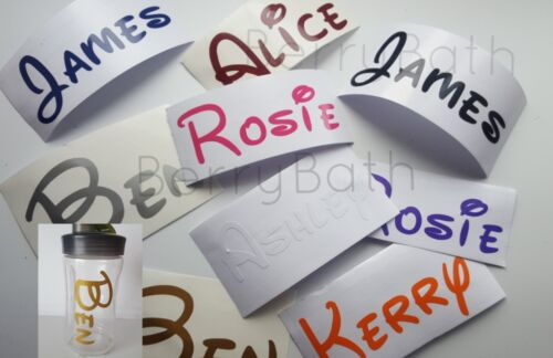 Home Decoration - Personalised Custom Name vinyl Sticker Decal,water bottle,Disney Font stickers