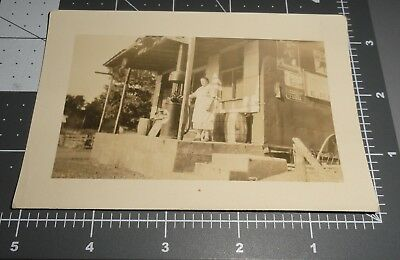 Roadside General Store Orange Crush SIGN Gulf Pump Chesterfields Vintage PHOTO
