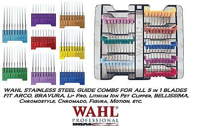 - WAHL Steel ATTACHMENT GUIDE COMB For ARCO,BRAVURA ADJUSTABLE 5in1 Clipper Blade
