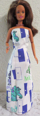 OOAK ~ REVERSIBLE SPONGE BOB SHEATH GOWN + WRAP for BARBIE ~ GREAT FOR KIDS](Spongebob Robe)