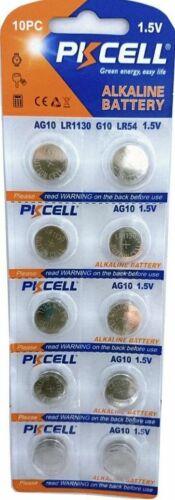 10 PKCELL LR1130 AG10 189 L1131 389 V10GA 1.5 V Alkaline Button Cell Battery