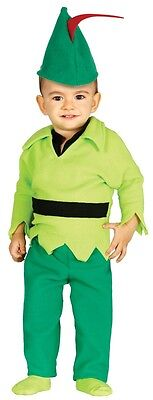 Baby Boys Girls Robin Hood Fairy Tale Fancy Dress Costume Outfit 6-12 & 12-24ms (Toddler Girl Robin Costume)