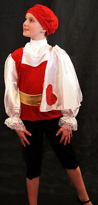 Alice In Wonderland Costume For Boys (Alice in Wonderland KNAVE OF HEARTS Complete Costume with BERET & SASH ALL AGES)