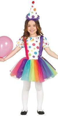 Mädchen Big Top Gepunktet Clown Cutie Zirkus Kostüm - Big Top Kostüme