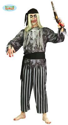 Zombie Pirat Kostüm Seeräuber Horror Halloween Herren one (Halloween Räuber Kostüm)