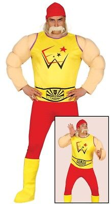 Erwachsene Herren Wrestler Wrestling Hulk Hogan Kostüm 80er - Hulk Hogan Kostüm