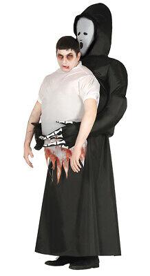 aufblasbares Sensemann Kostüm für Herren Halloweenkostüm Tod tot - Herr Tod Halloween Kostüm