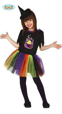 Guirca Bunte Kinder Hexe mit Tütü Kleid Hexenkostüm Halloween - Hexe Kostüm Mit Tutu
