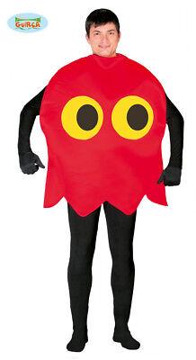 sma rosso Pacman carnevale uomo adulto mod. 80772 (Pacman Kostüm)