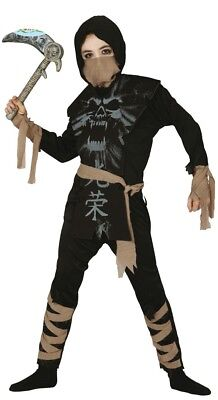 Jungen Schwarz Strom Ninja Kostüm Kinder Japanisch Samurai Krieger Kinder (Japanischen Ninja Krieger Kostüm)