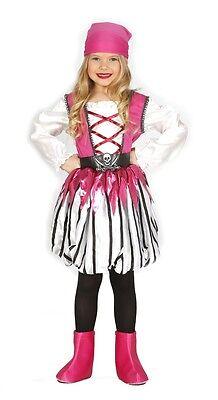Mädchen Rosa Piraten Bösewicht See Prinzessin Kostüm Kleid Outfit 3-12 Jahre